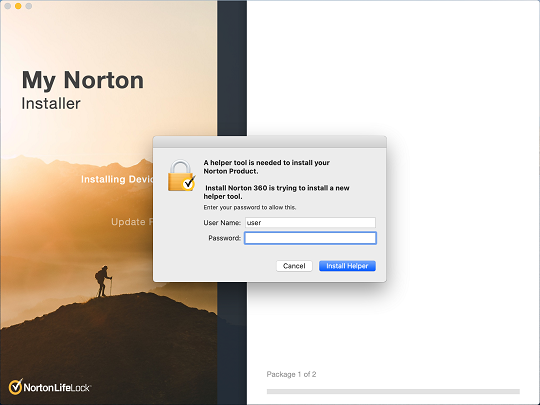 Install Norton Device Security