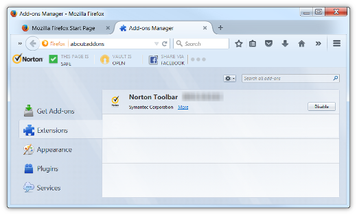 How do I get rid of Norton Safe Search? | Firefox Support ...
