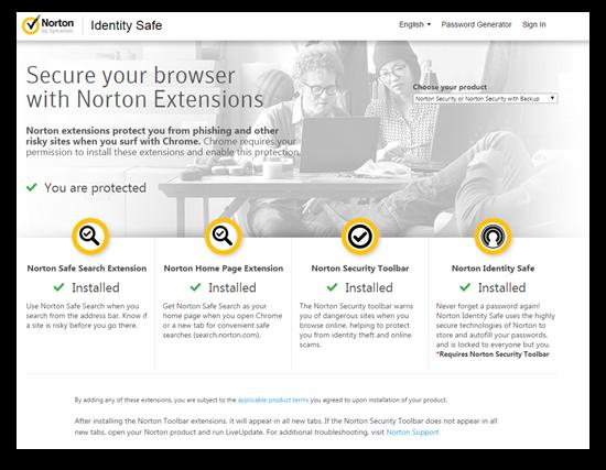 en US firefox addon norton identity safe