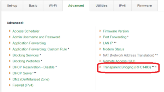 Set up a combined modem and router in Bridge Mode to use with Norton
