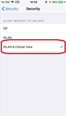 WLAN Cellular - Turn Off Norton Vpn On Iphone