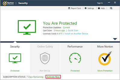 activate norton security