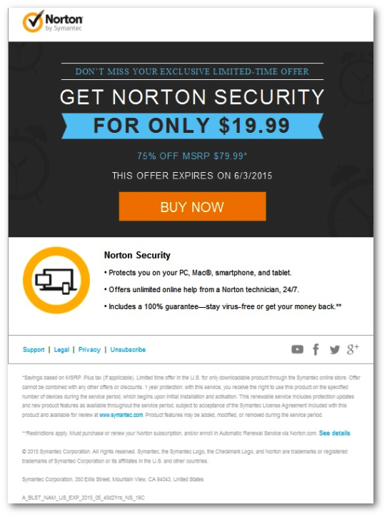 Verify that an email you receive from Norton is legitimate