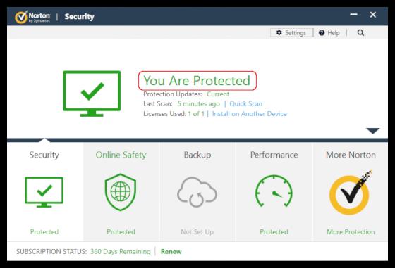 Updating norton antivirus in safe mode
