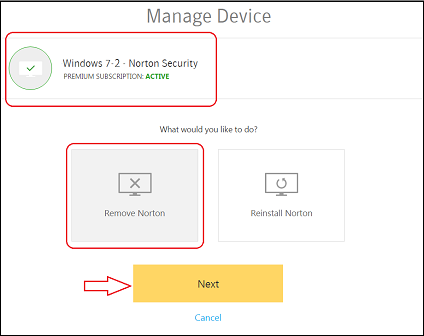 How to transfer your Norton device security to a new device