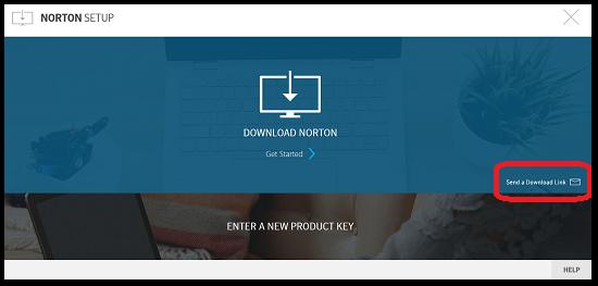 Norton setup screenshot