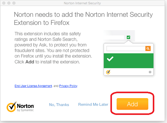 Firefox adding browser extention
