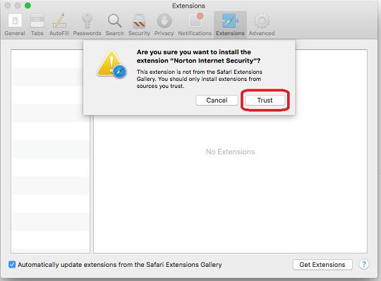 Mac trust extentions